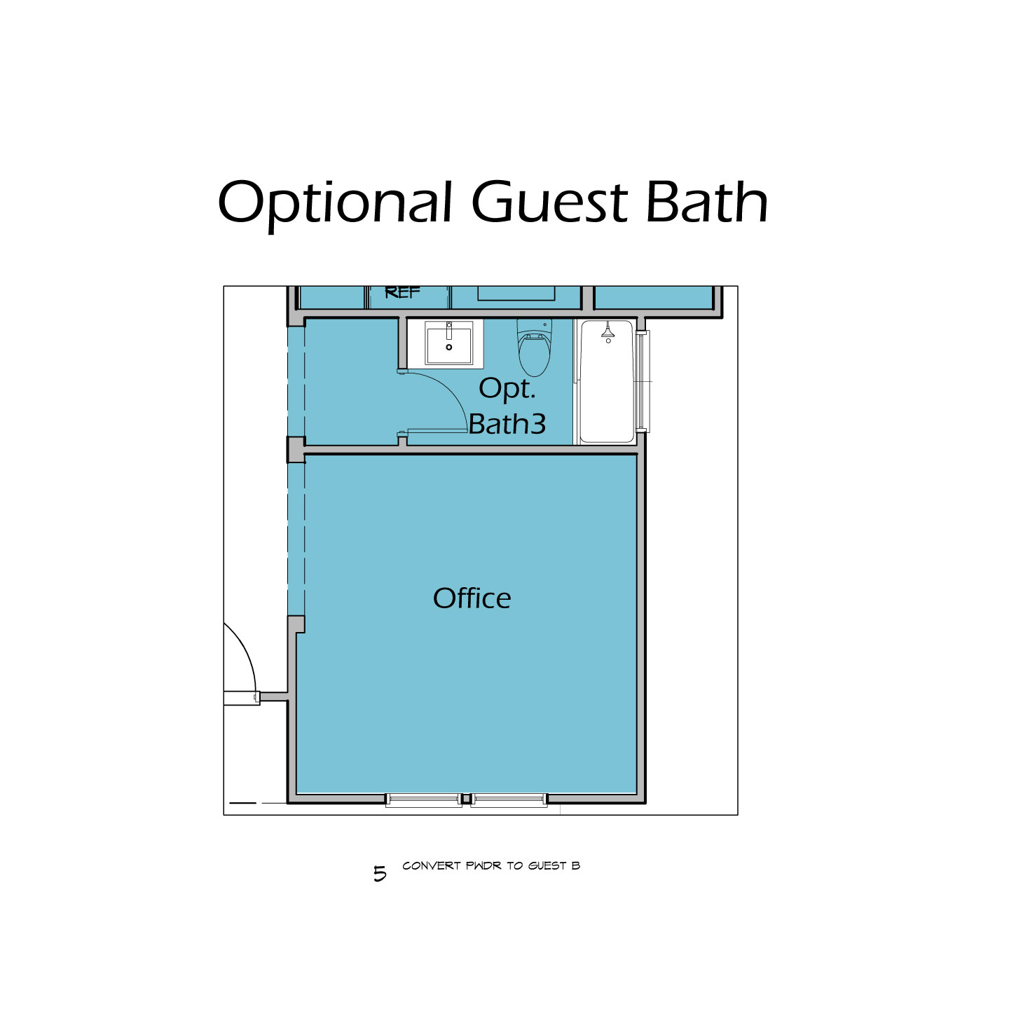 Heartalnd Plan T3 Optional Guest Bath