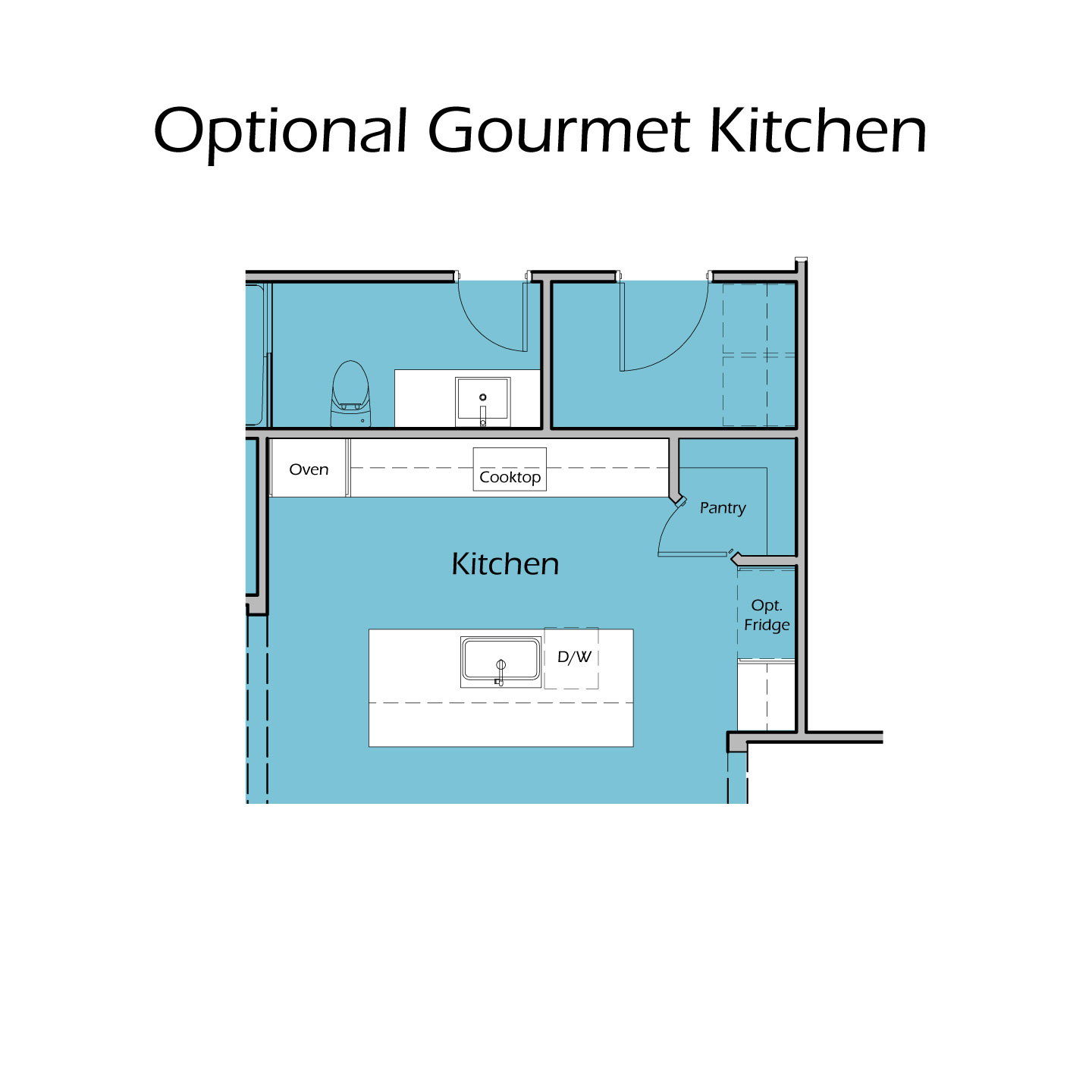 Heartland Plan TC2 Gourmet Kitchen Option